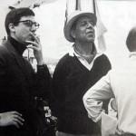 Luis García Berlanga durante el rodaje de 'El verdugo' (1963), con Ricardo Munoz Suay y Rafael Azcona